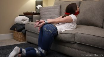 Duct Taped Struggle In Skinny Jeans – Captive Chrissy Marie