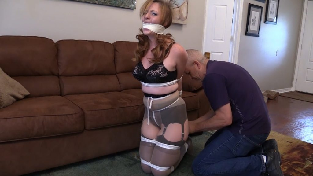He made me pose for him tied up and gagged with Pantyhose over my garters and stockings – Mouth Stuffed and Tied Up Girls