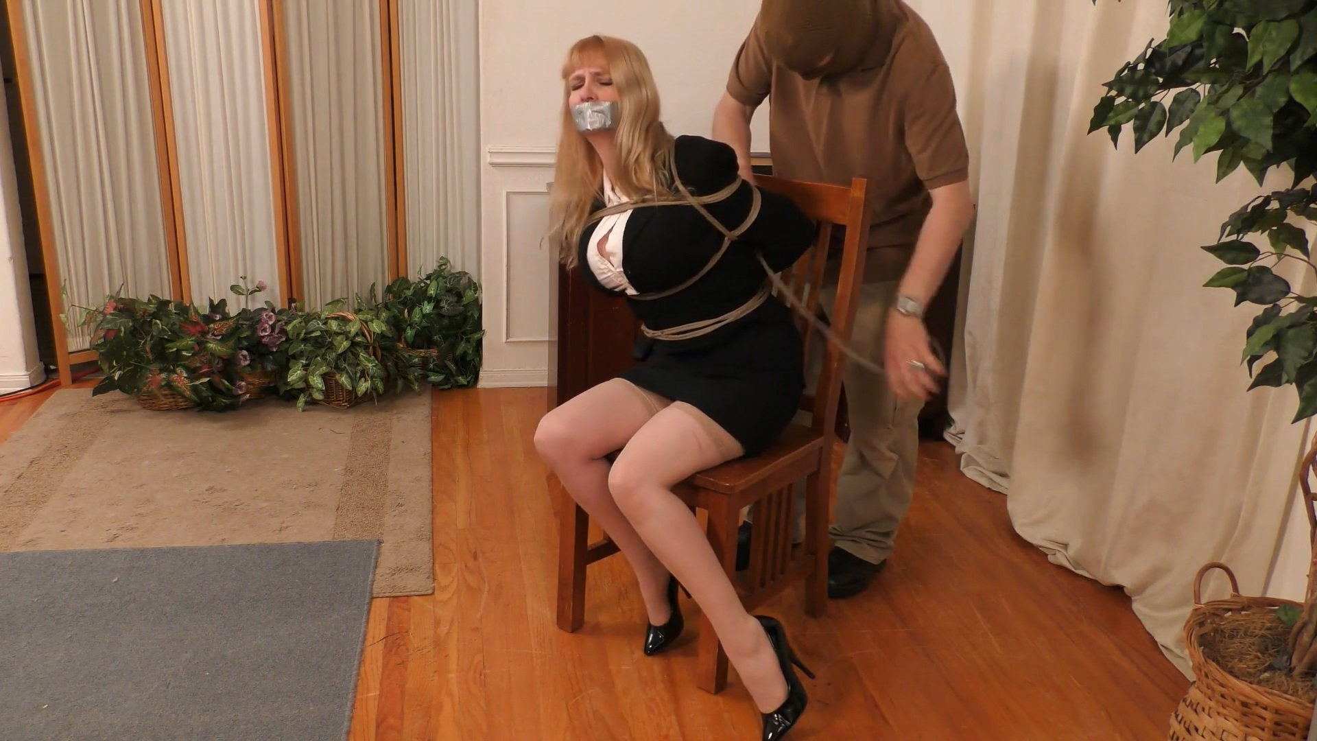 Moaning Damsel StuffGagged Groped Tied and Abandoned