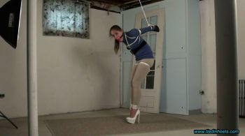 Rachel Adams…Strappado in the Basement Dungeon! – TIED IN HEELS