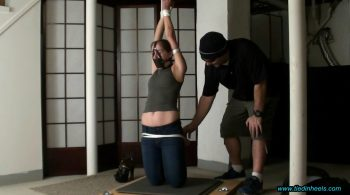 Rachel Adams…Trapped, Tied and Tickled in the Basement Dungeon! – TIED IN HEELS