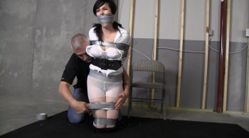 The double crosing bastard left me mouth stuffed and taped up! – Girl Next Door Bondage