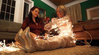 A festive encasement!! – Bondage: JJ Plush, Born to be Bound