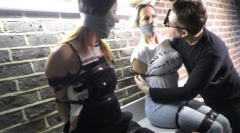 Brooke & Miss Scarlett in: They Were Captured Out Near Devil's Armpit Brewery & Hidden Gagged & Bound Throughout the Grounds!