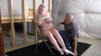 Full figured girl tied up naked and gagged with her panties – Girl Next Door Bondage
