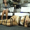 Hogtaped cold and bored milfy secretary