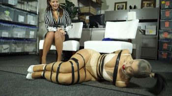 Hogtaped cold and bored milfy secretary!! – Bondage: JJ Plush, Born to be Bound