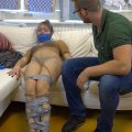 Luna Grey_Pantyhose Encased Taped Up Tickling HD