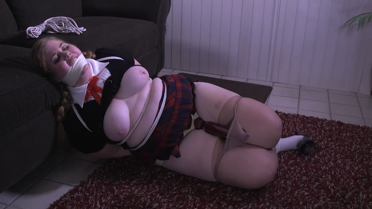 The Curvy School Girl needed to be tied up tight and used