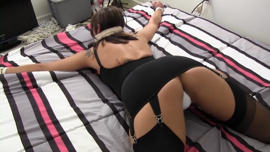 Waiting for you blindfolded and gagged with my girdled ass in the air! – Enchanted-Fantasies
