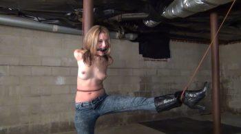 Briella Jaden: Pole Strappado – ITN – Bondage by Ivan Boulder