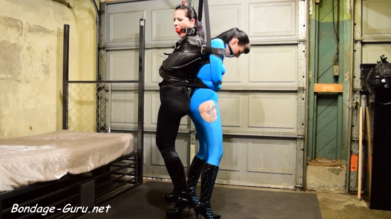 Caroline Pierce and Nyxon_2 Girl Straightjacket Struggle