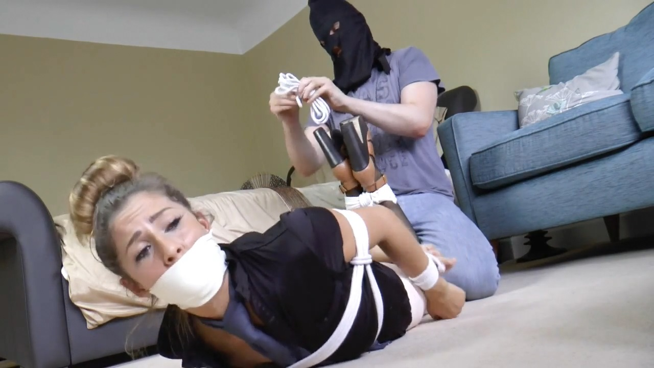 Gina in A Bound and Gagged Air Hostess & the Theft of the Secret Flight Plans