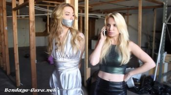 Prom Queen Janira taken to an abandoned building and tied to a pole by jealous bully blonde Cassey – Hollyrope
