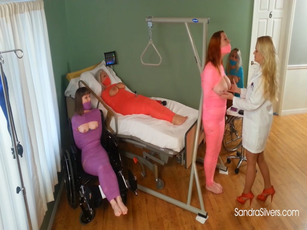 Nurse Lisa Gives Severe Breast Torture Therapy to Mummified Big-titted Amazon Redhead as 3 Mummified MILFs watch! – Sandra Silvers – Please Tie Me Up