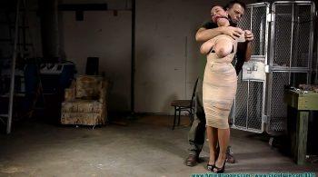 JJ Plush Mummified and Hogtied – Part 1 – Futile Struggles
