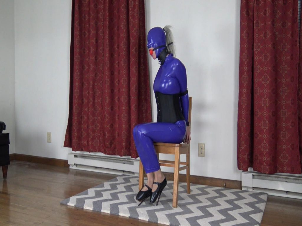 Claire D'Lune – Mouth Violated in PVC and Bondage – Claire D Lunes Dollhouse