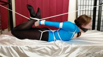 Rachel Adams.. Strict Leotard Hogtie – ShinyBound Productions