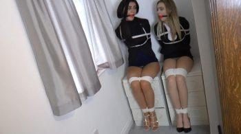 Klara & Jade in: Tied Up in the Apartment Overlooking the Quay, Those Struggling Lady Agents ALMOST Managed to Give the Game Away! (Full Clip)