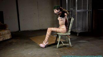 Vesper Leashed, Paraded, Strung Up, and then Hogzipped – Part 2 – Futile Struggles