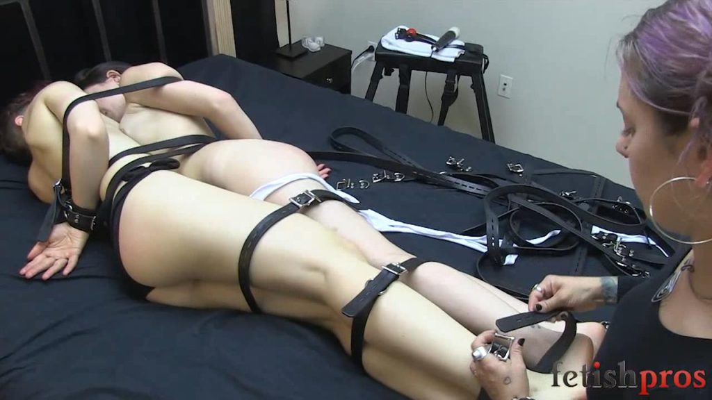 Ingrid and Juliette Strapped Together – Fetish Pros Bondage Fetish Videos