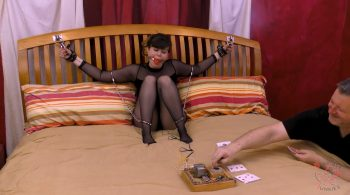 Kaecie vs. The Card Game – BondageJunkies Clips