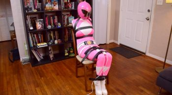 Raquel Roper.. Pink Power Ranger Strapped and Drained – ShinyBound Productions