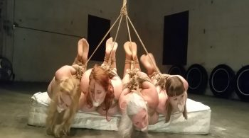 4 Hooded, Hogtied Hotties Hoisted & Gagged on Screen! Blonde, Brunette, Redhead & Silver! #1827 – Sandra Silvers – Please Tie Me Up