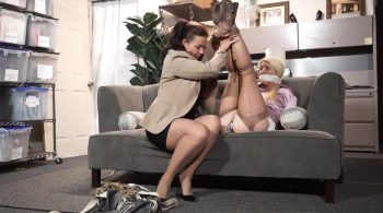 Satin clad secretary tied up against her will – Bondage: JJ Plush, Born to be Bound