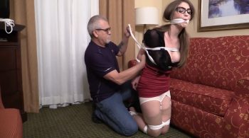 She never expected to end up bound and gagged – Girl Next Door Bondage