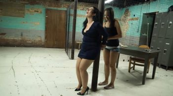 Rachel and Scarlet at intake together part#2 – Handcuffed Girls