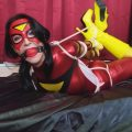 Raven Eve Spiderwoman Hogtied