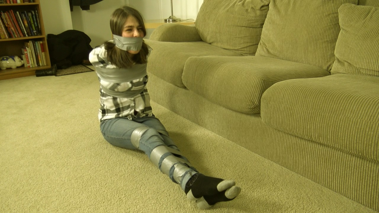 Jeanette Cerceau Taped Tied Over A Television