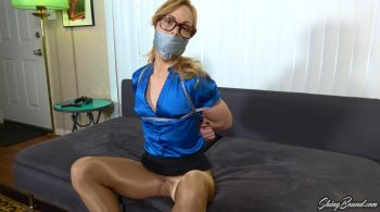 Jenny Jett.. Tied and Spread Wide in Pantyhose – ShinyBound Productions