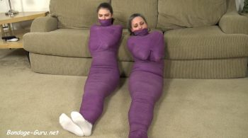 Mother & Daughter Mummified! – Cinched and Secured