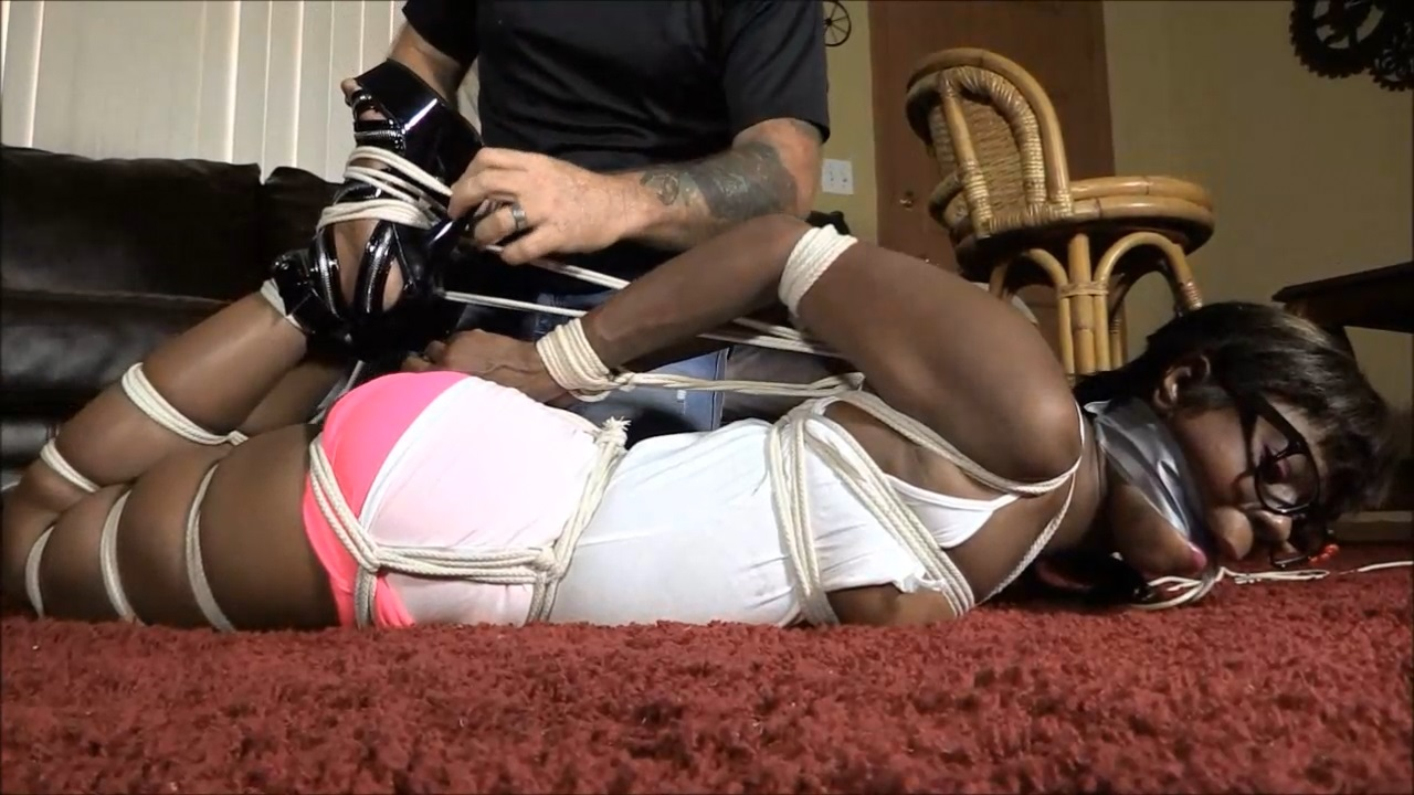 Rubee Rox Her First Real Hogtie