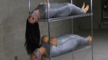 Two Completely Mummified MILFs, Stacked, Racked and Ready for Delivery! #2052 – Sandra Silvers – Please Tie Me Up