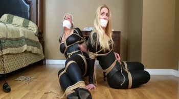 MILF Burglars get Double-crossed, Get Bound, Gagged. Escape attempt turns into Lesbian Make-out Session! #2055