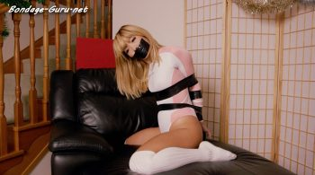 Pink Realise Bodysuit and Electrical Tape – Restricted Senses – Mina