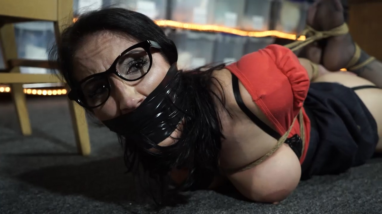 Raven Tied Up At Work
