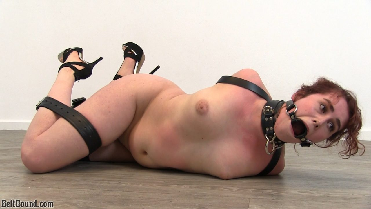 Rosaly_strapped elbows and a 2 inch ring gag