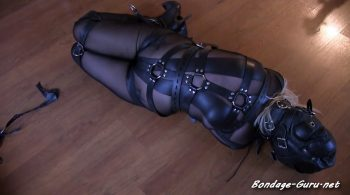 Sexy blond in a catsuit and leather bondage puts on a struggling show – Bondage: JJ Plush, Born to be Bound