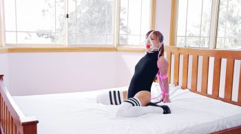 Single Rope Hogtie – Restricted Senses – Mina