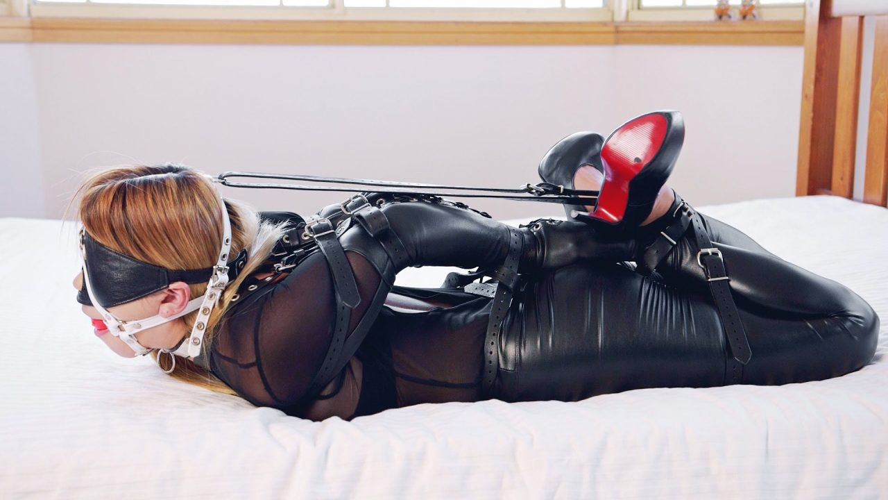 Tight Belt and Armbinder Hogtie