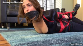 Karly Salinas.. Hogtied in Black Spandex – ShinyBound Productions