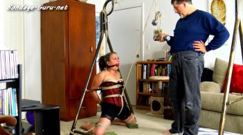 Genevieve's Weighted Crotch Rope Ordeal – Cinched and Secured