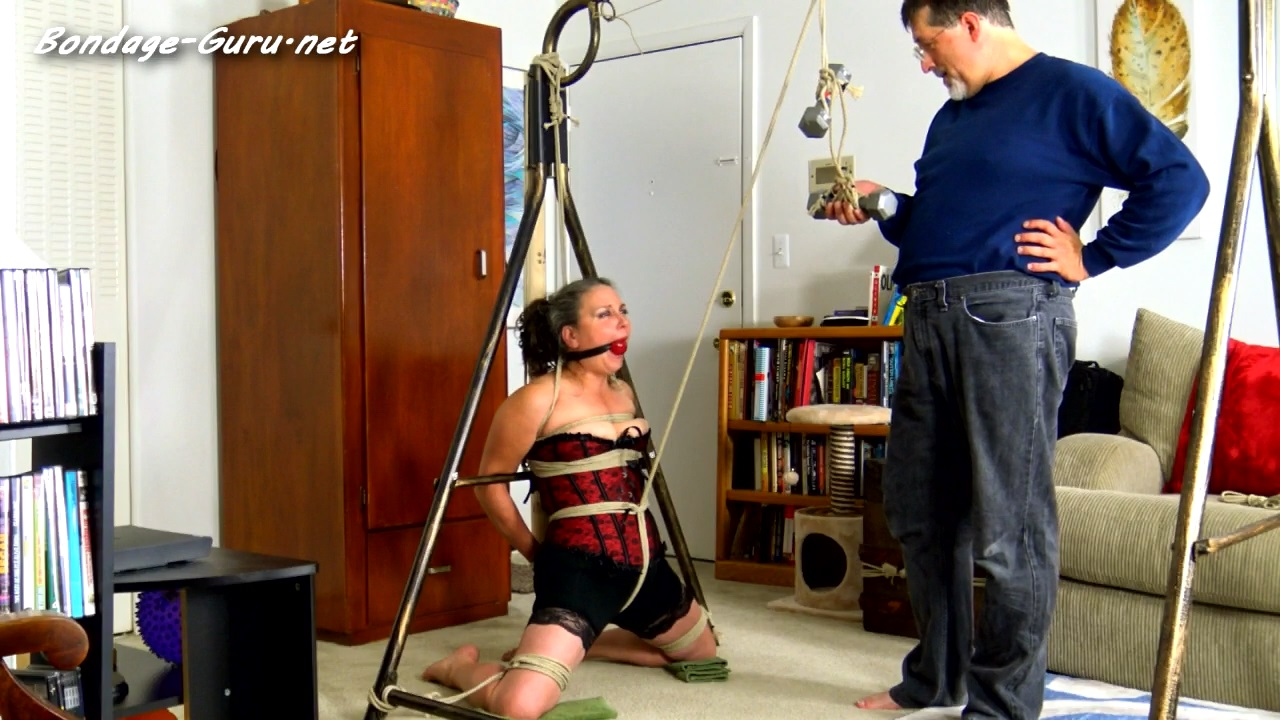 Genevieves Weighted Crotch Rope Ordeal