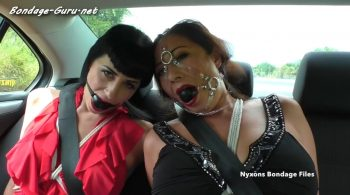 Nyxon & Nyssa… Back Seat Gag Kisses – Nyxons Bondage Files