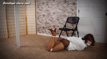 Ludella Hahns Fetish Adventures – Mystery of the Bound Girl in White – Gagged Damsel Struggling in Ropes and Pantyhose
