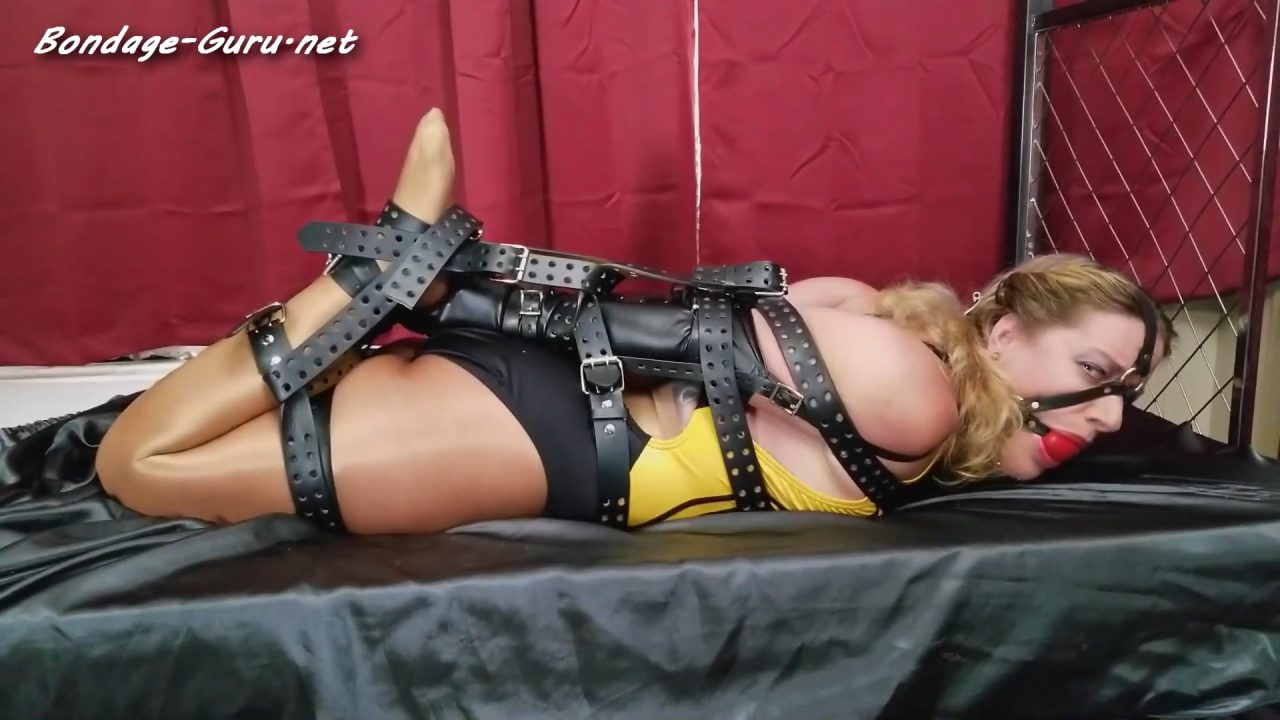 Fayth On Fire_Ultimate Leather Hogtie